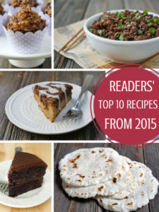 Top 10 Recipes from 2015 - by Ashley of MyHeartBeets.com