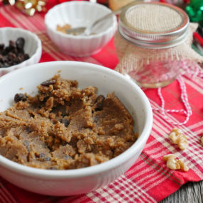 homemade cinnamon raisin walnut butter by Ashley of MyHeartBeets.com