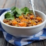 Spicy Chipotle Butternut Squash Turkey Chili by Ashley of MyHeartBeets.com
