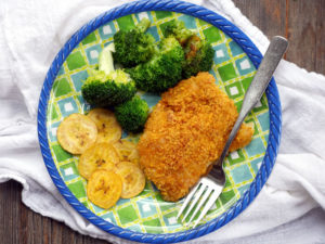 Plantain-Crusted Haddock