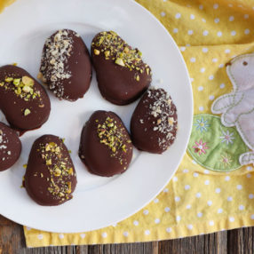 Chocolate Covered Cashew Butter Easter Egg Candy by Ashley of MyHeartBeets.com