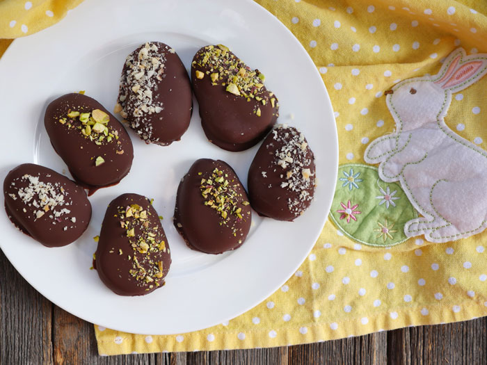 chocolate covered cashew butter easter eggs my heart beets