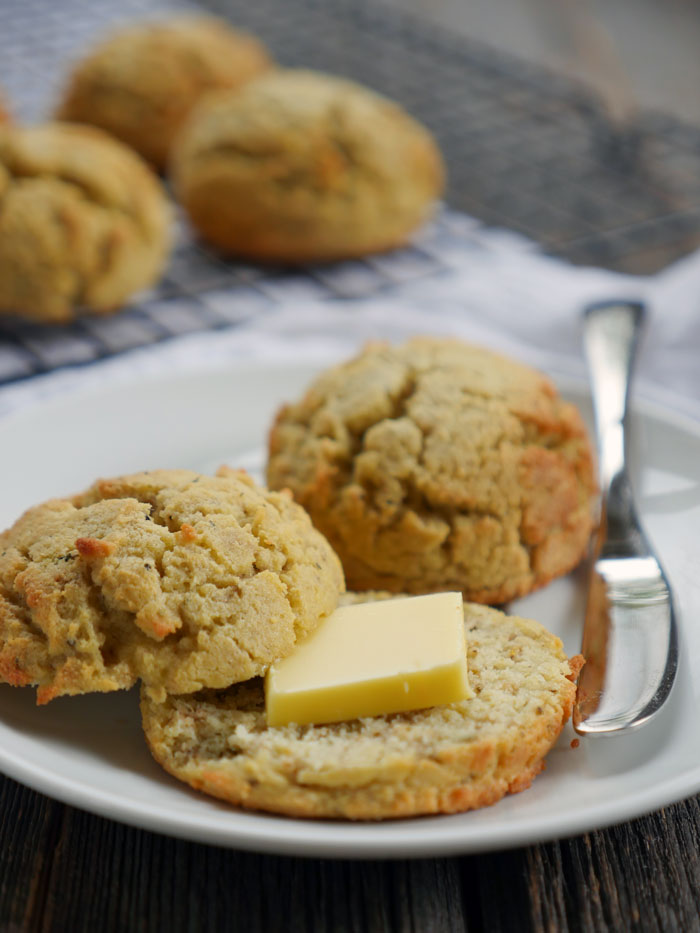 Savory Italian Coconut Flour Biscuits by Ashley of MyHeartBeets.com