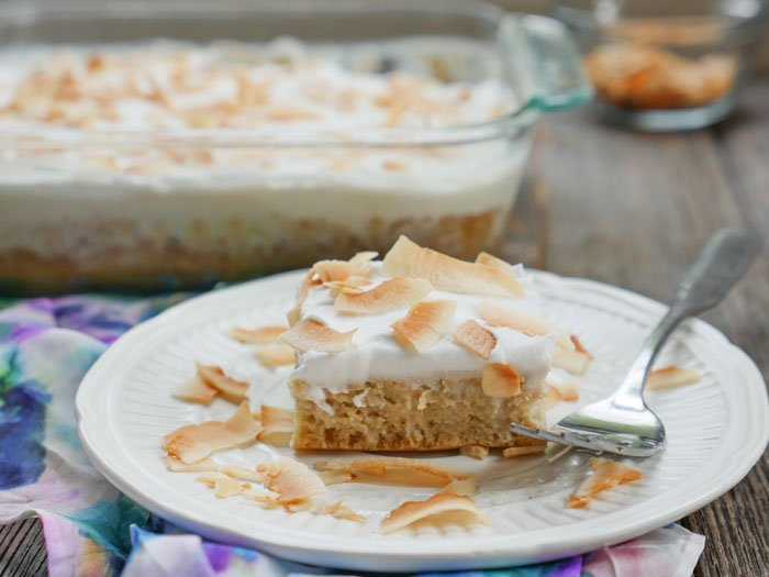 Coconut Tres Leches Cake (paleo, gluten-free and dairy-free) by Ashley of MyHeartBeets.com
