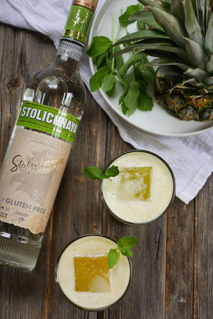 Spicy Pineapple Coconut Cocktail by Ashley of MyHeartBeets.com