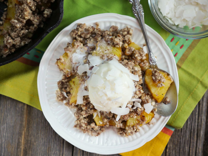 Grilled Pineapple Crisp by Ashley of MyHeartBeets.com