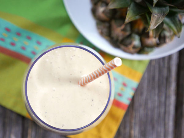 Grilled Pineapple Lassi by Ashley of MyHeartBeets.com