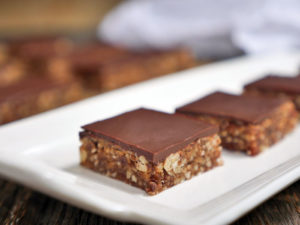 Chocolate Covered Nut Bars