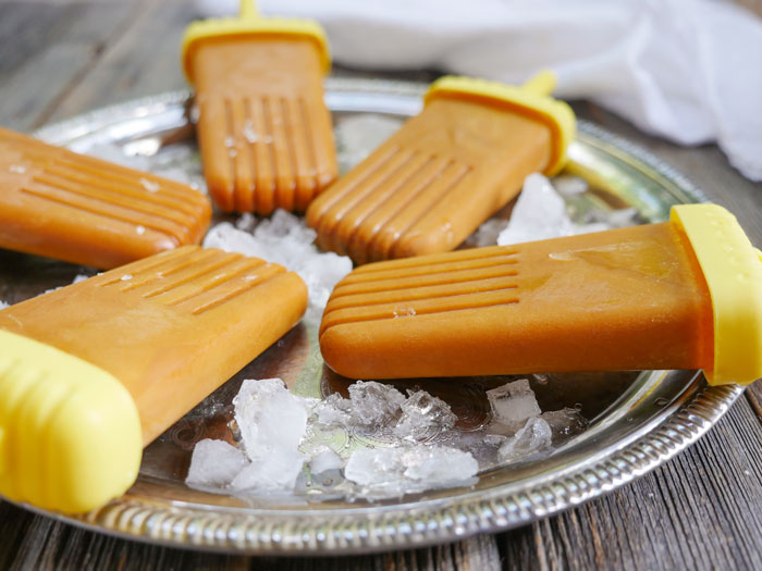 Golden Milk Popsicles by Ashley of MyHeartBeets.com