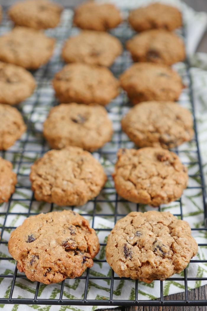 Oatmeal Raisin Lactation Cookies by Ashley of MyHeartBeets.com