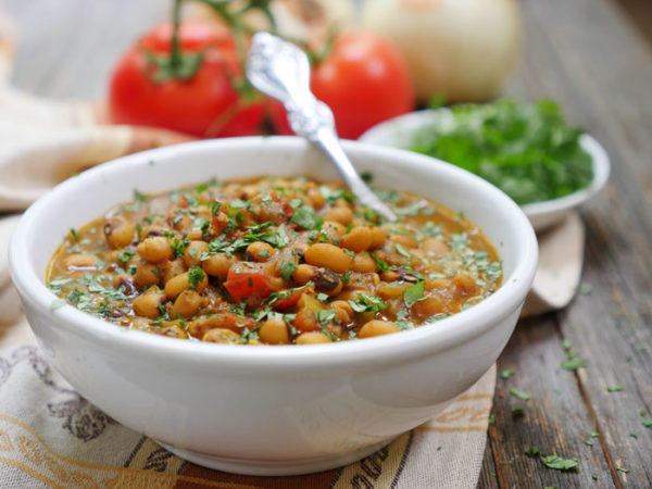 Instant Pot Indian black eyed pea curry by Ashley of MyHeartBeets.com