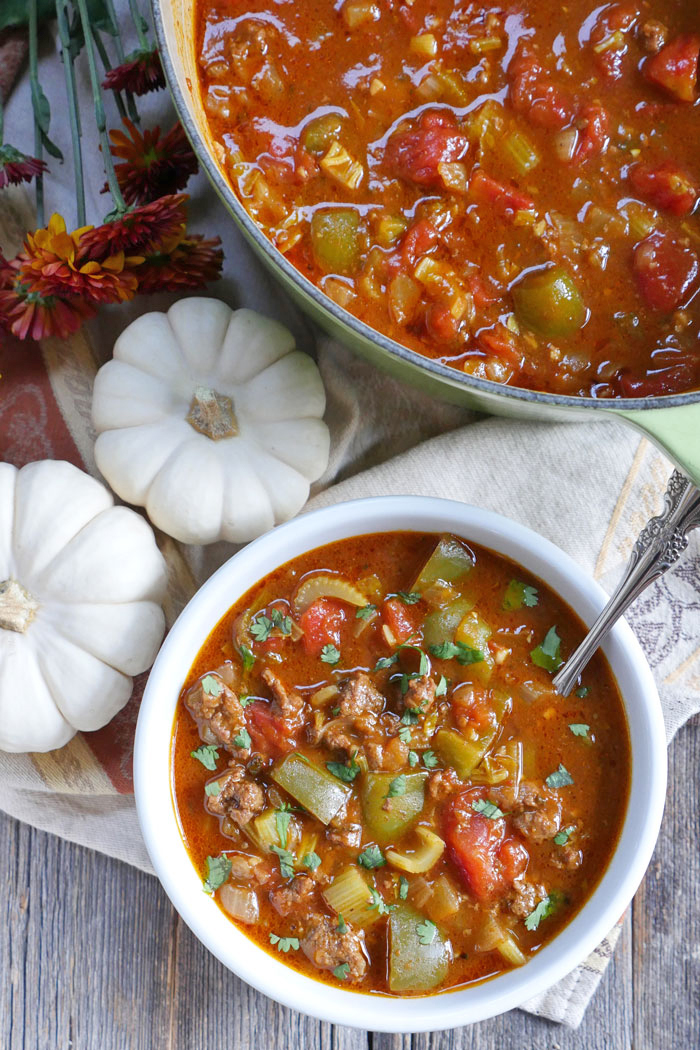 Paleo Pumpkin Chili by Ashley of MyHeartBeets.com