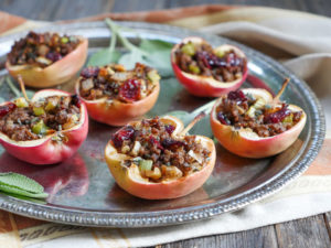 Spiced Beef & Sage Stuffed Apples