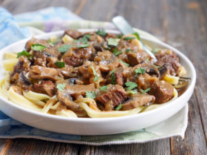 Paleo Beef Stroganoff by Ashley of MyHeartBeets.com