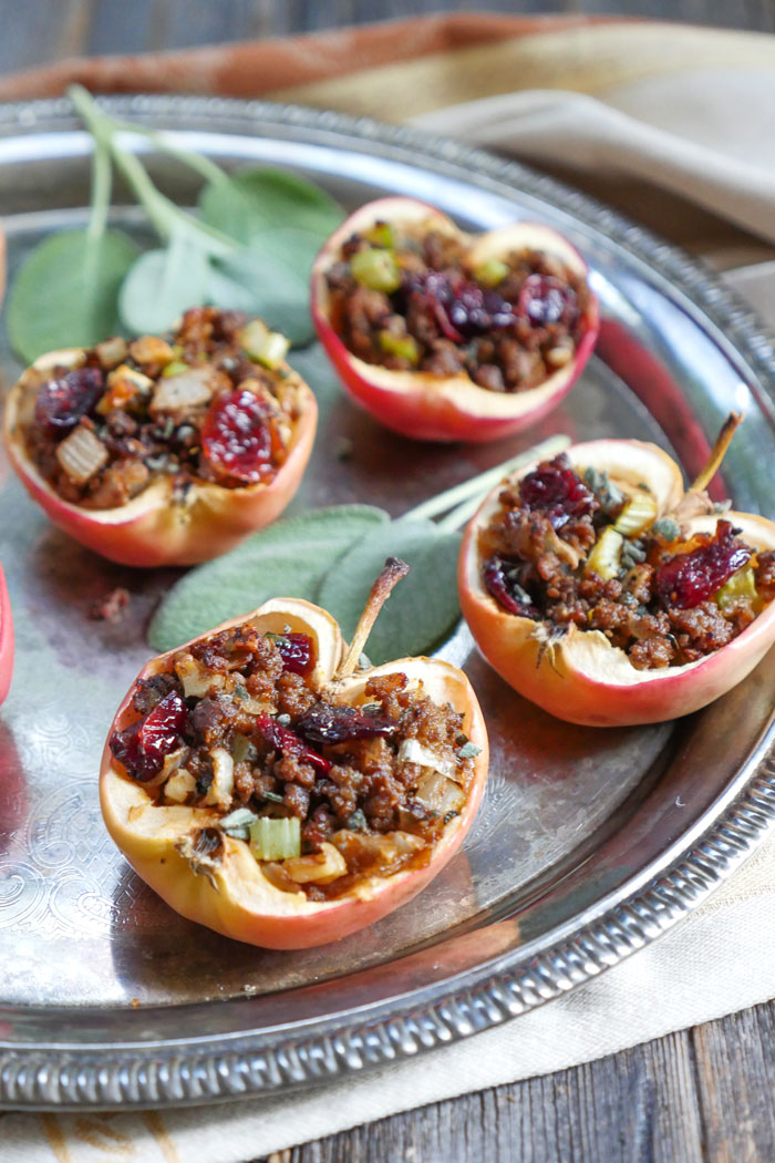 Savory Beef and Sage Baked Apples by Ashley of MyHeartBeets.com