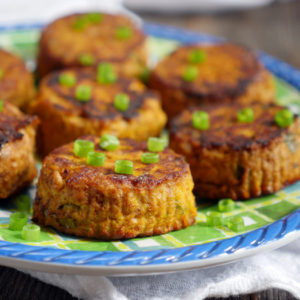 Spicy Tuna Paleo Pumpkin Patties by Ashley of MyHeartBeets.com