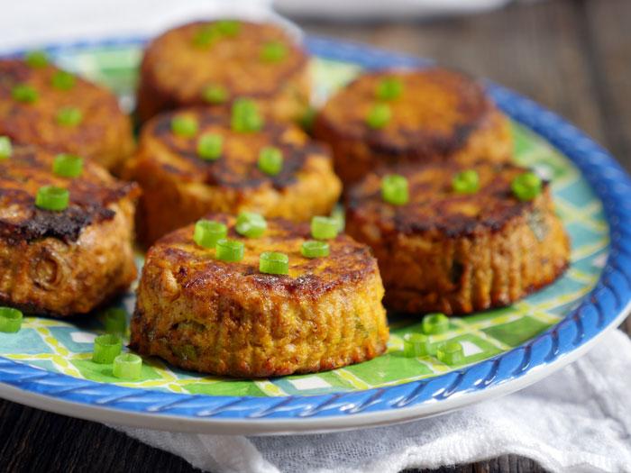 Spicy Tuna Paleo Pumpkin Patties by Ashley of MyHeartBeets.com