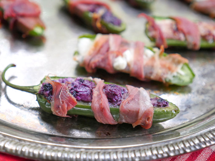 Prosciutto Goat Cheese Jalapeño Poppers by Ashley of MyHeartBeets.com