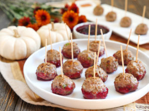 Thanksgiving Meatballs by Ashley of MyHeartBeets.com