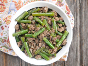 Spicy Sage Ground Beef and Green Beans