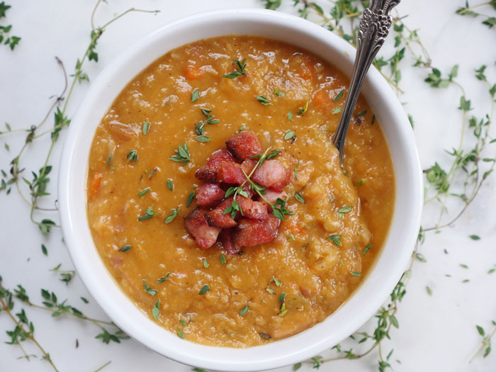 Ham and Lentil Soup by Ashley of MyHeartBeets.com