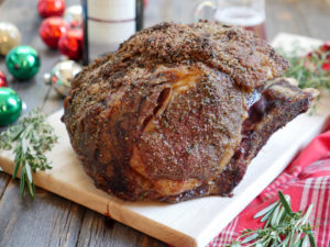Herbed Rib Roast with Red Wine Au Jus