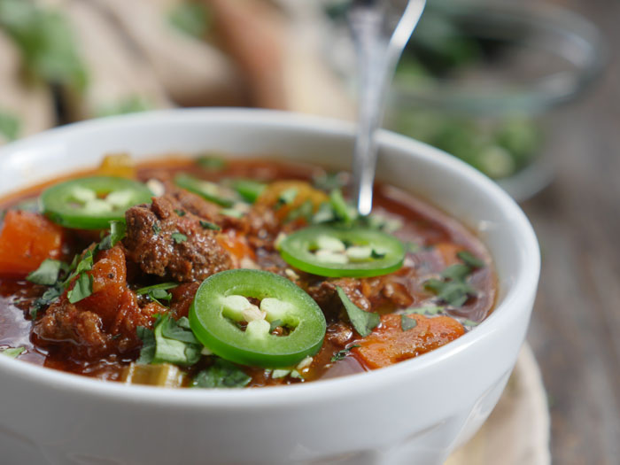Hearty Ground Beef recipe (whole30) by Ashley of MyHeartBeets.com