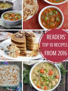 Readers' Choice: Top 10 Recipes from 2016