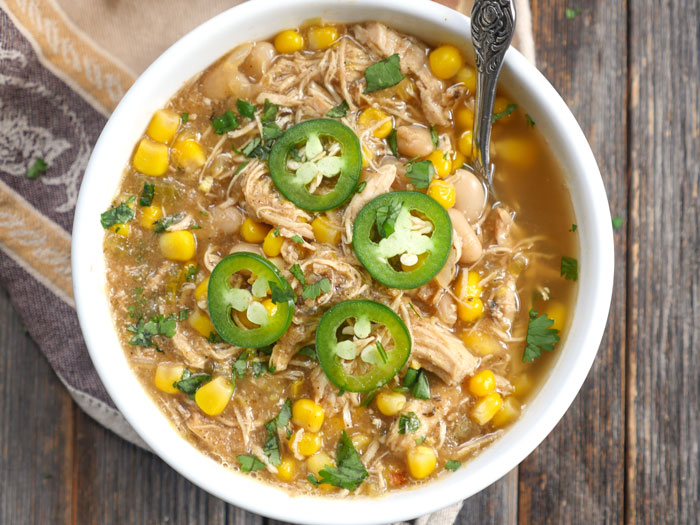 White Chicken Chili by Ashley of MyHeartBeets.com