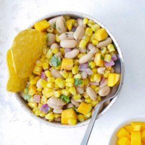 Indian bean corn dip chaat