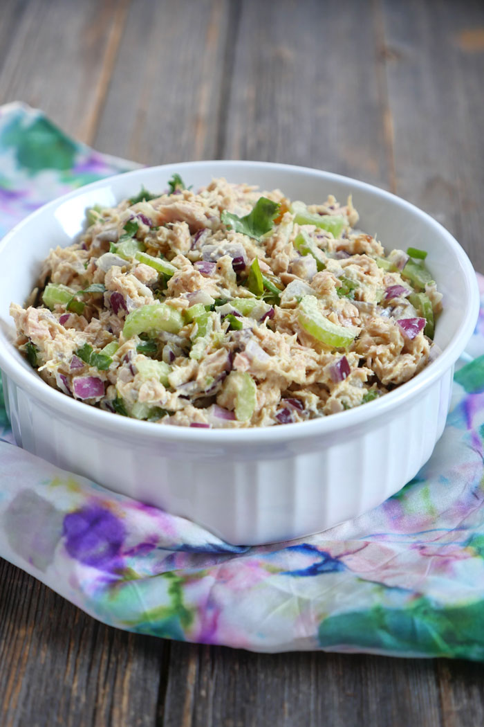 Curried Tuna Salad by Ashley of MyHeartBeets.com