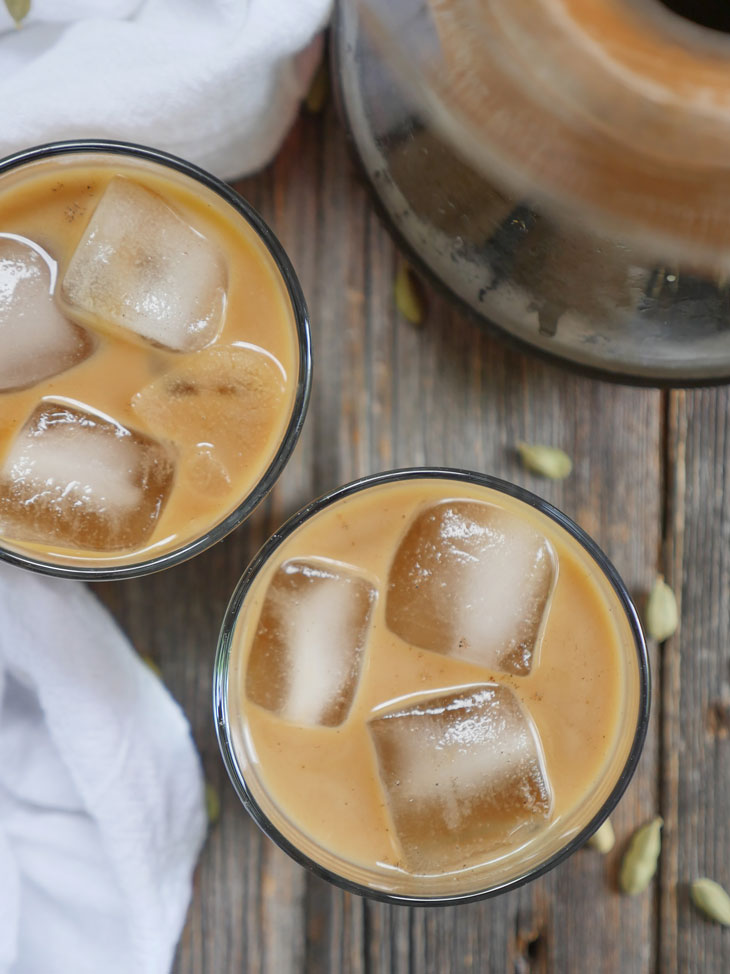 Cardamom Spiced Iced Coffee by Ashley of MyHeartBeets.com