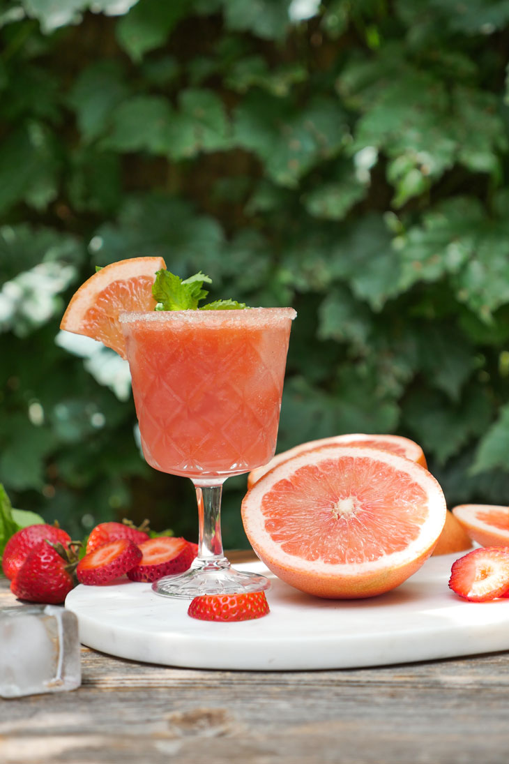 Strawberry Grapefruit Punch by Ashley of MyHeartBeets.com