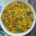 Curried Apple Pilaf by Ashley of MyHeartBeets.com