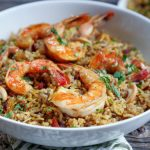 Instant Pot Shrimp Biryani by Ashley of MyHeartBeets.com