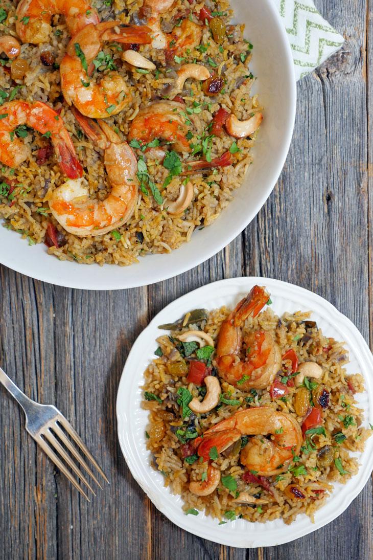 Instant Pot Shrimp Biryani by Ashley of MyHeartBeets.com