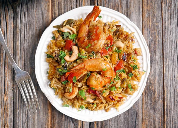 Instant Pot Shrimp Biryani | My Heart Beets