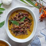 Instant Pot Kerala Kadala Curry (Brown Chickpeas in Coconut Curry) by Ashley of MyHeartBeets.com