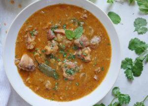 Instant Pot Dal Gosht (Lentils with Goat)