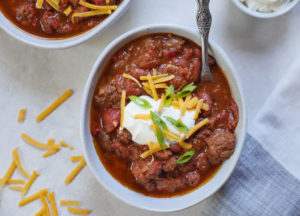 Instant Pot Ground Beef and Kidney Bean Chili