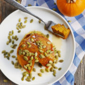 Blender Pancakes: Gluten-Free Oatmeal Pumpkin Pancakes by ashley of myheartbeets.com