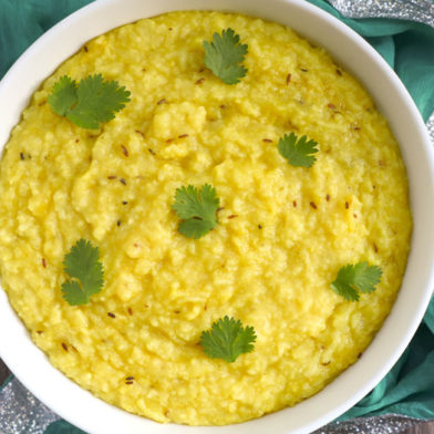 Instant Pot Khichdhi: Indian Rice and Lentil Porridge by ashley of myheartbeets.com