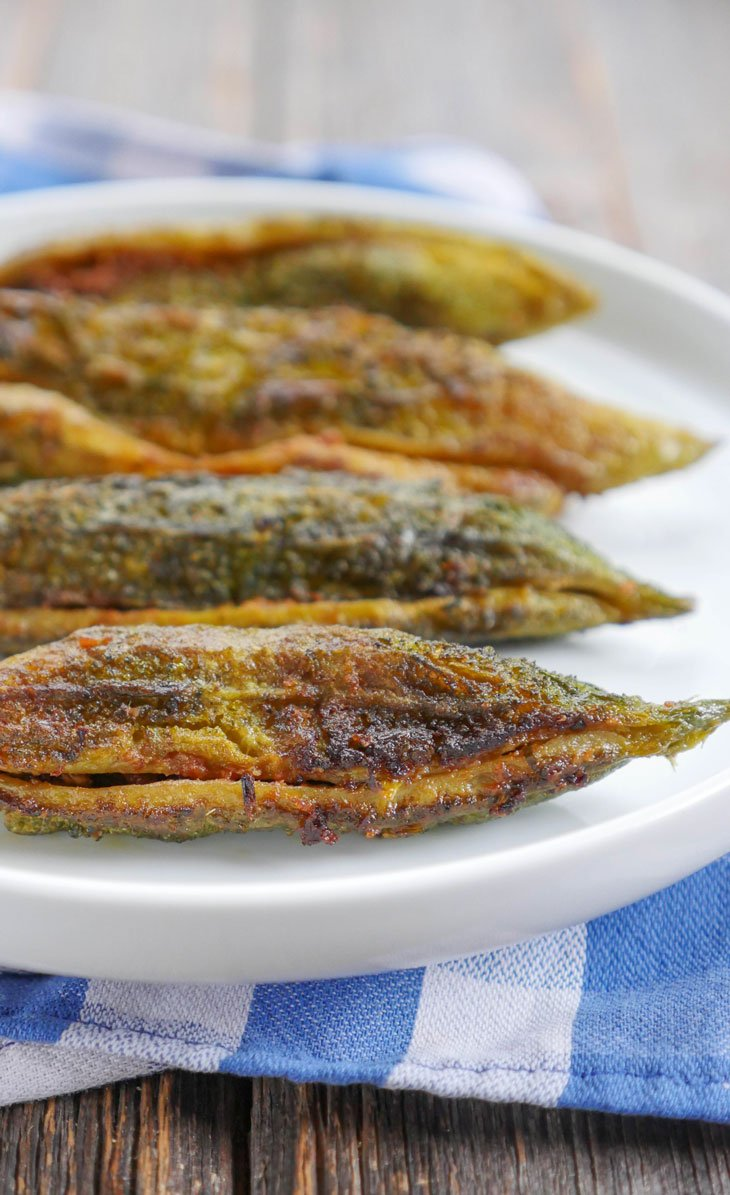 Stuffed Karela (Bitter Melon) with Onion Masala