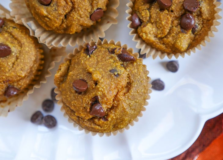gluten-free pumpkin muffins by ashley of myheartbeets.com