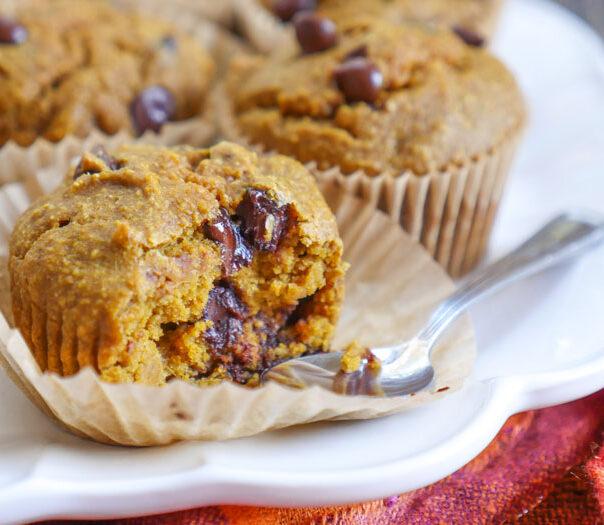 gluten-free pumpkin muffins by ashley of myheartbeets.com