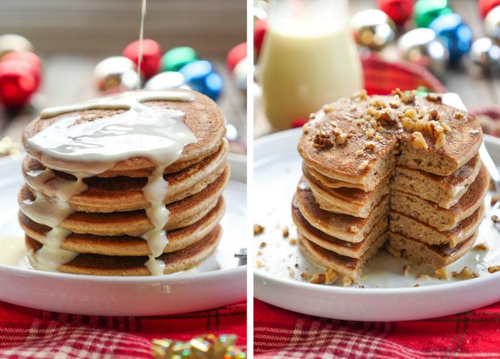 Paleo Eggnog Pancakes