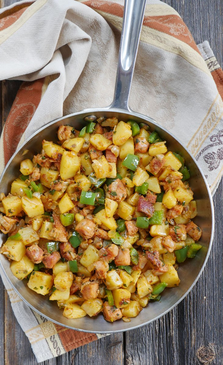 Spicy Leftover Ham and Potato Breakfast Hash