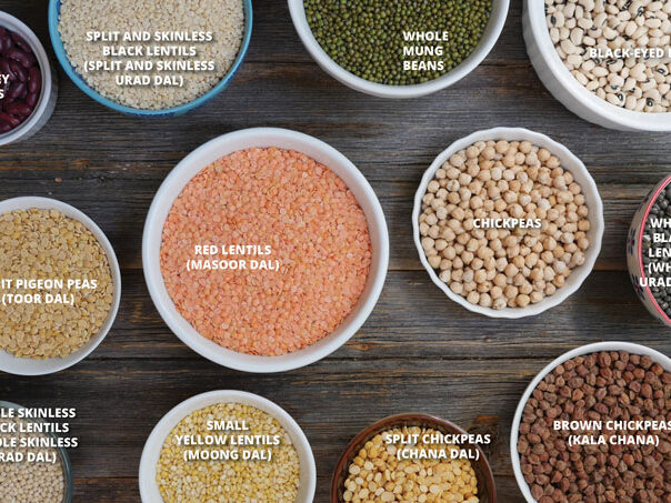 different types of Indian legumes