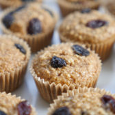 Cinnamon Raisin Oatmeal Muffins