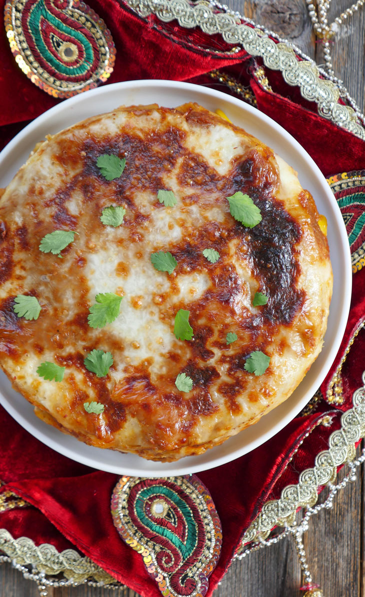 Instant Pot Indian Vegetable Lasagna